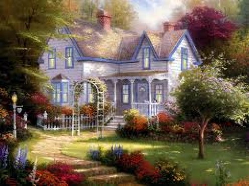 """Home Is Where The Heart Is""             Kinkade Print"
