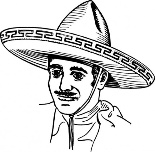The sombrero is worn by the Mexican and Filipino cultures.  In English it is translated as a wide brim hat.  It is usually made of straw or felt and is a major icon of Mexican National celebrations.