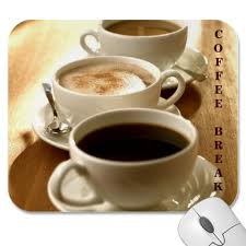 """Nothing like a cup of coffee in the late afternoon when concentration and energy are at their low points!  Shown here - classic black coffee, cappuccino and coffee with milk also known as """"cafe au lait""""!  Yum-yum!"""