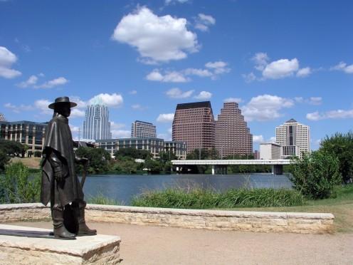 Austin Skyline | Stevie Ray Vaughn statue tribute