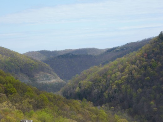 A scenic overlook on US-19. This route bypasses the city of Charleston and offers beautiful views.