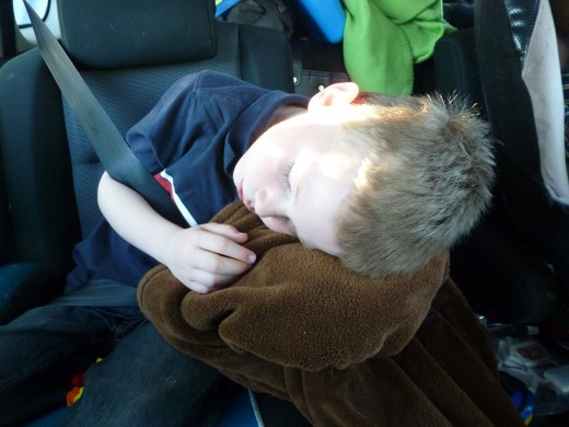 Our six year old son didn't fall asleep until we were in South Carolina. Bring a blanket on a long road trip - it can serve as a pillow!