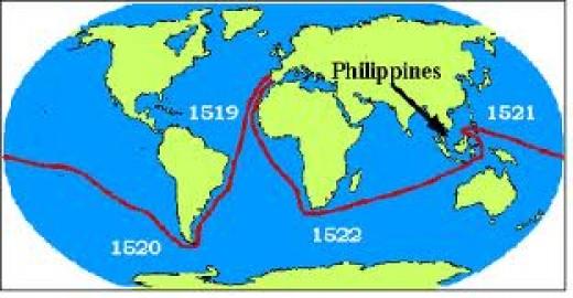 Ferdinand Magellan's Route...