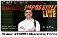 Review - Dinner: Impossible! LIVE at the Capitol Theater in Clearwater Florida with Chef Robert Irvine