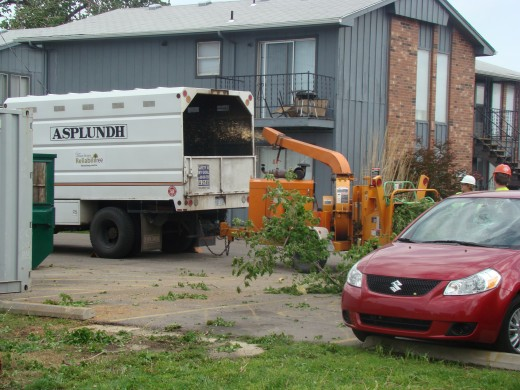 Cleaning Up After Tornado: Wichita, KS