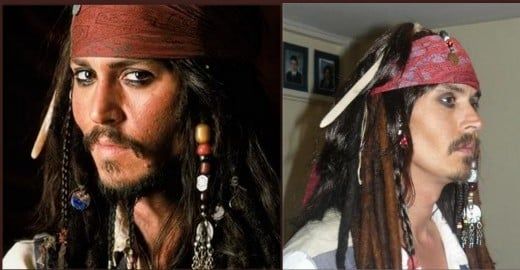 Johnny Depp and Melo Sparrow