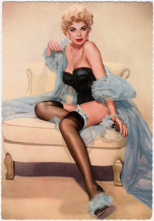 THE PIN-UP GIRL WHO GRACED NUMEROUS CALENDARS AND PHOTOS.