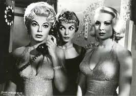 JUST ONE OF THE GIRLS (CENTER) JANET LEIGH AND JOY LANSING.