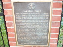 Scarborough Historical Society plaque, 'Cornell Home', Kingston Road, Scarborough