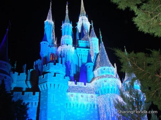 Cinderella's castle, located in Florida's Walt Disney World Resort.