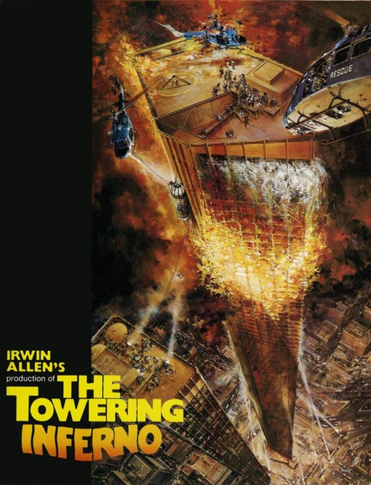 The Towering Inferno (1974) poster art by John Berkey