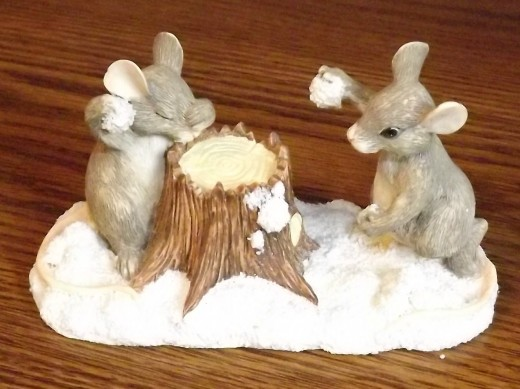 Collectible Charming Tails by Dean Griff--The Snowball Fight