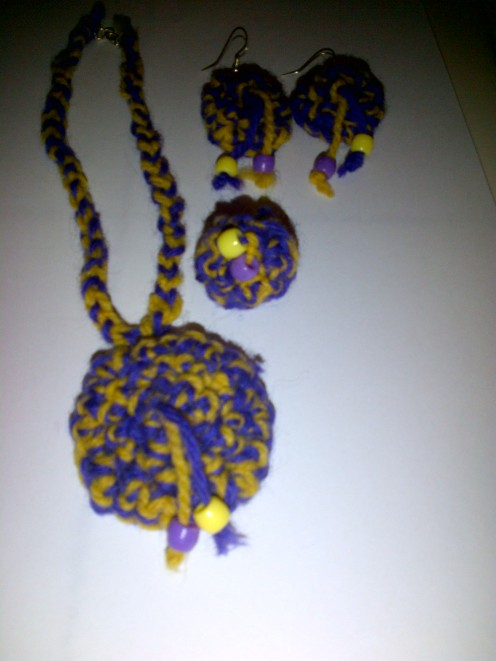 Complete Set - Necklace, Earrings and Ring.
