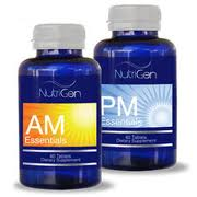 Nutrigen AM and PM bottles