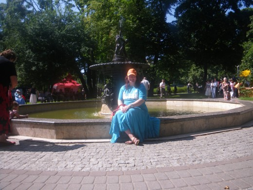 In Riga by a fountain