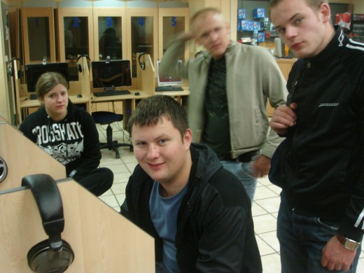 Martin's son Andris in the front of the picture