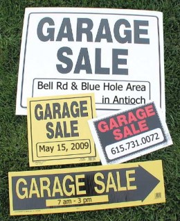 Garage Sales - Where there junk may be your treasure!