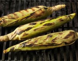 Grilled corn on the cob tastes so good!
