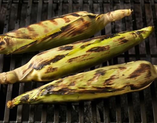 Grilled corn on the cob tastes so good!