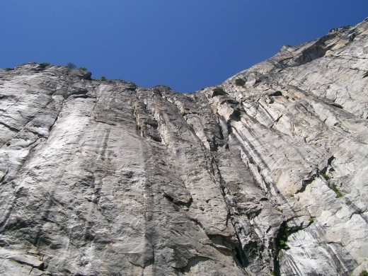 While hiking Upper Yosemite Falls, I looked up and this is what I saw