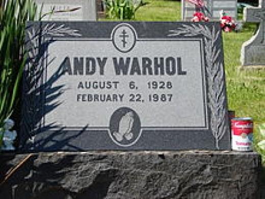Andy Warhol - gravestone.