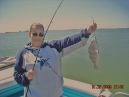 Geegee77 - wearing her Dallas Cowboys shirt just caught a big one!!!