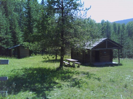 This is the popular Hess Cabin. This is just a sort hike away from Big Meadow Lake. This cabin is available on a first come first serve basis and it open to everyone for free. There is no overnights in the cabin, but it's great for a day hike picnic.