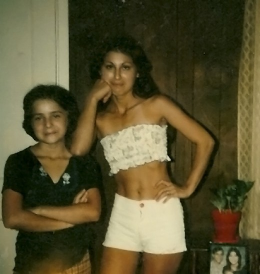 Geegee77 and me (Whidbeywriter) - I was 18 and Geegee77 was 7, those were the days!!!