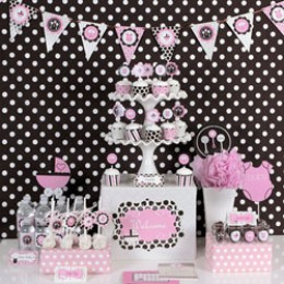 table setting ideas for baby shower girl themes