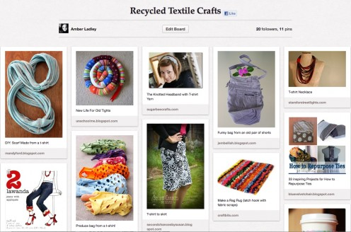 Recycled Textile Crafts board on Pinterest