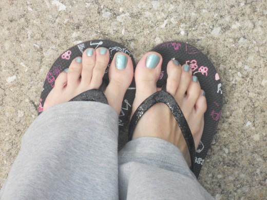 My first pedicure  :)