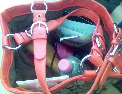 Handbag full