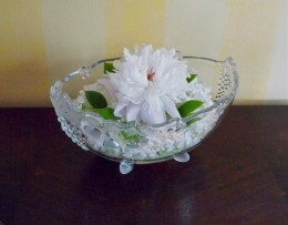 One peony can make a dining room table arrangement!
