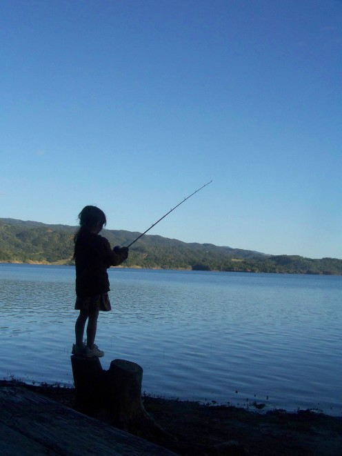 My Daughter Fishing