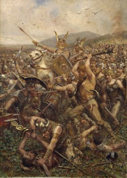 Germanic Warriors in a painting from 1909