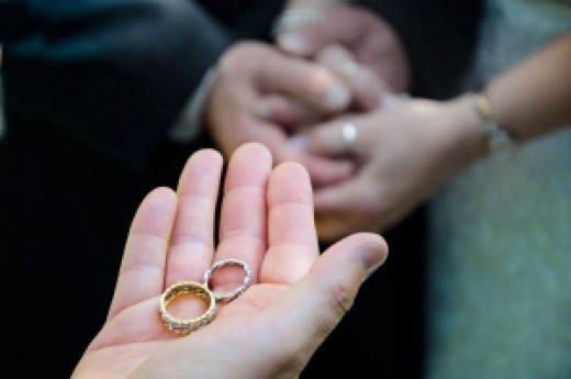 Wedding rings and marriage vows