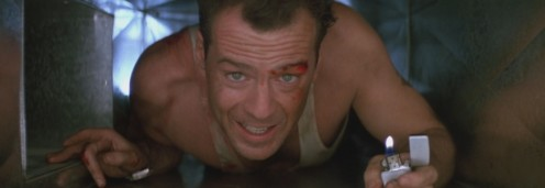 Bruce Willis as John McClane in the Die Hard movies