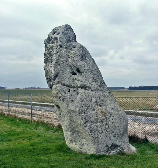 Heelstone at Stonehenge.