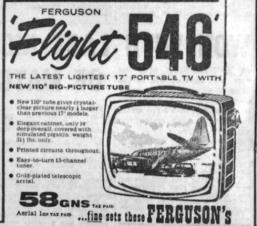 Old TV advertisement from the 1960s