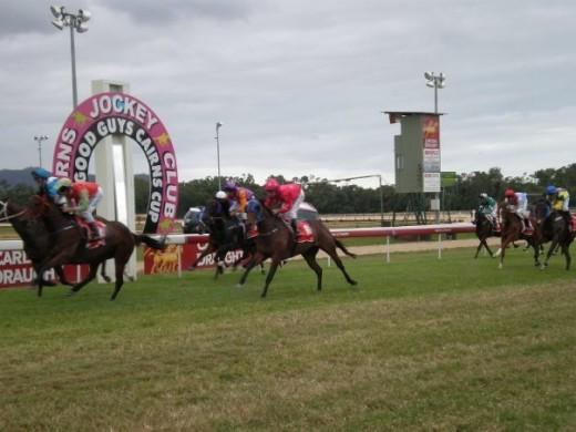 Cairns Jockey Club Horse Racing. Cairns, Queensland, Australia.