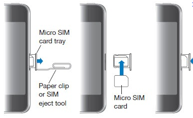 Installing a SIM card in iPhone