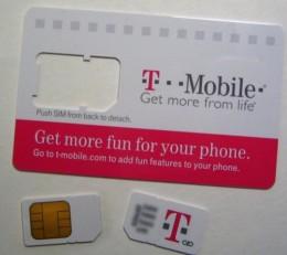 A T-Mobile SIM