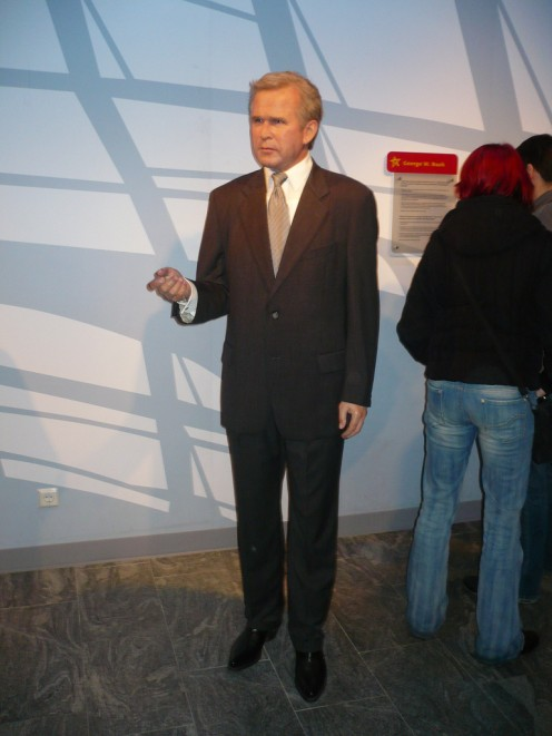 George Bush at Madame Tussauds Berlin