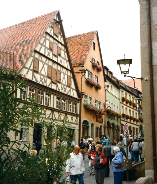 Heidelberg, Germany: Note the brightly attired American tourists.