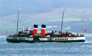 The Waverley Steamer still makes pleasure cruises along the coast of western Scotland
