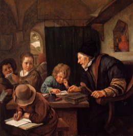 """The Severe Teacher,"" by Jan Steen (1668)"