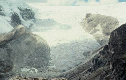 Qori Kalis Glacier, Peru, July 1978.