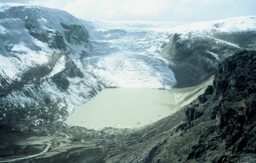 Qori Kalis Glacier, Peru, July 2004.