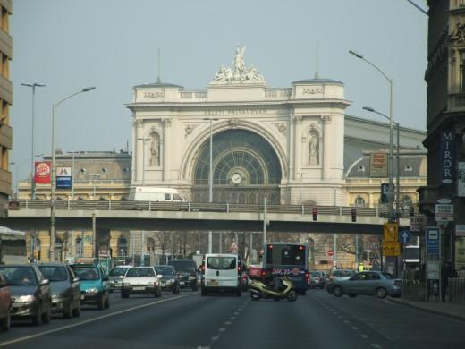 Front views of Keleti Train Station