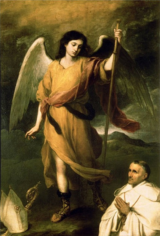 Bartolome Esteban Murillo (1618-1682) painting of the Archangel Raphael
